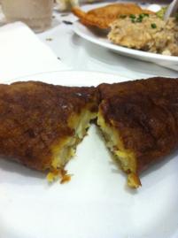 Dessert: fried banana