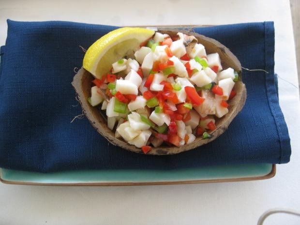 Conch Salad Source: Fat Back and Foie Gras