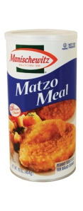 Matzoh Meal, a common substitute for bread crumbs